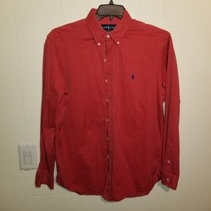 Ralph Lauren mens red long sleeve classic fit